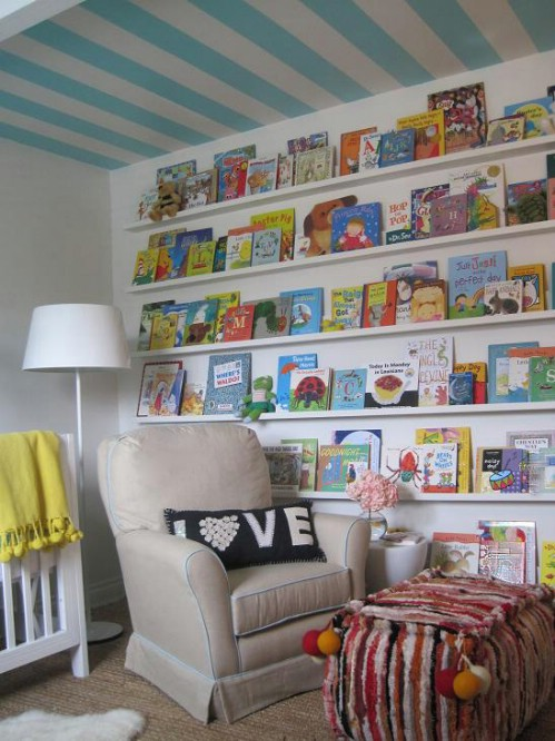 Nursery Room Bookshelves