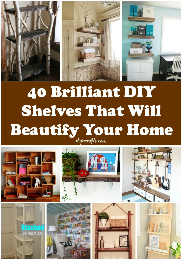40 Brilliant DIY Shelves That Will Beautify Your Home