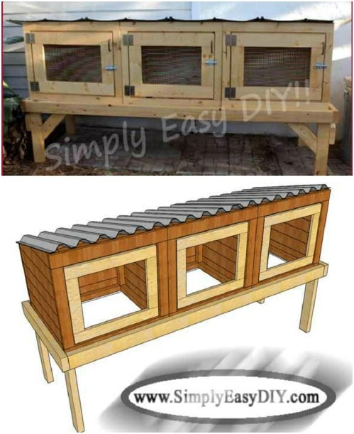 DIY Multi Unit Rabbit Hutch