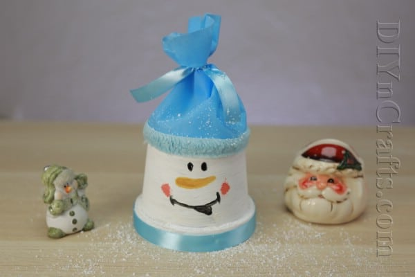 How to Make a Cute Snowman Out of a Flower Pot