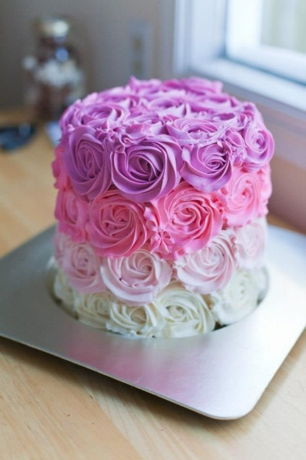 Ombre-Flowers-cake