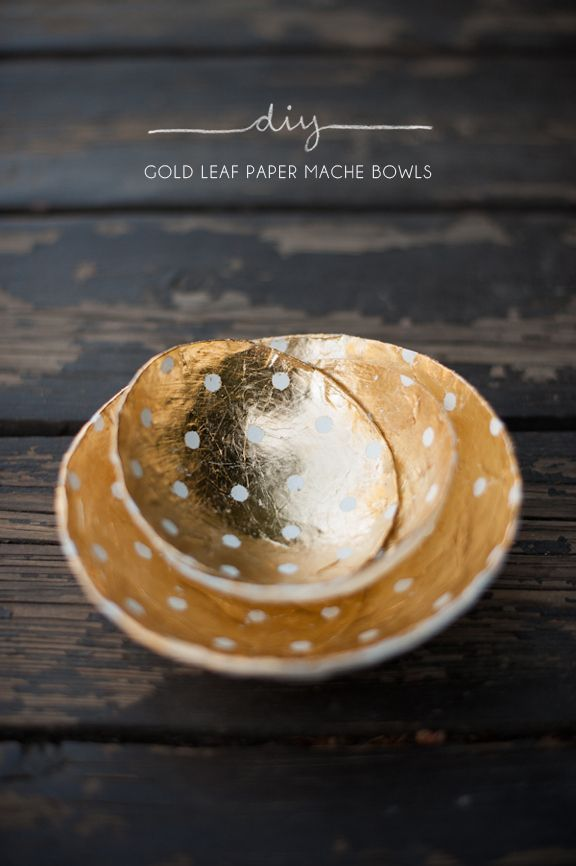 Decorative gold bowls