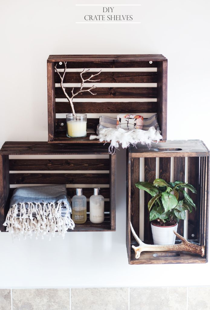 DIY Crate Shelves After a Paint