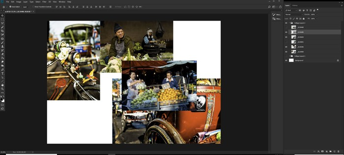 Screenshot of how to make a Photoshop collage