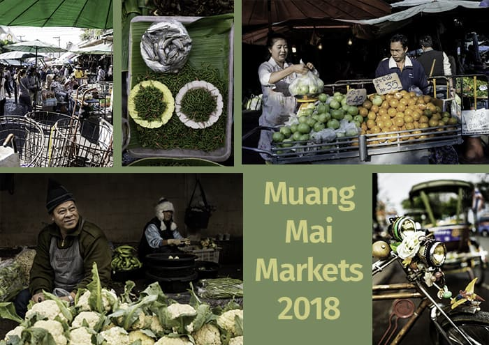 A collage of various market images and the text