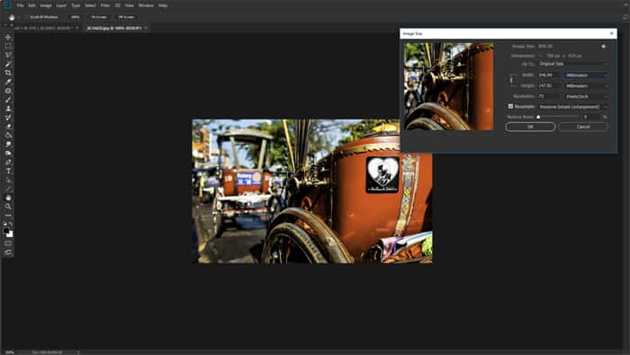 Screenshot of making a collage in Photoshop