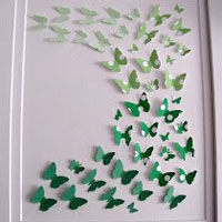 Butterfly paint chip decor