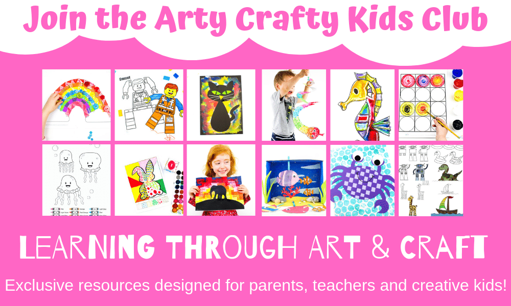 Arty Crafty Kids Club - Learning through Art and Craft. Exclusive resources designed for parents, teachers and creative kids!