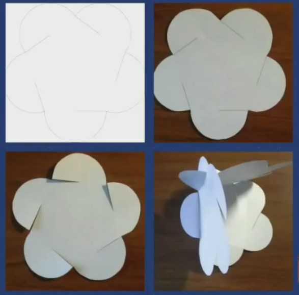 Как сделать объемный шар для открытки
