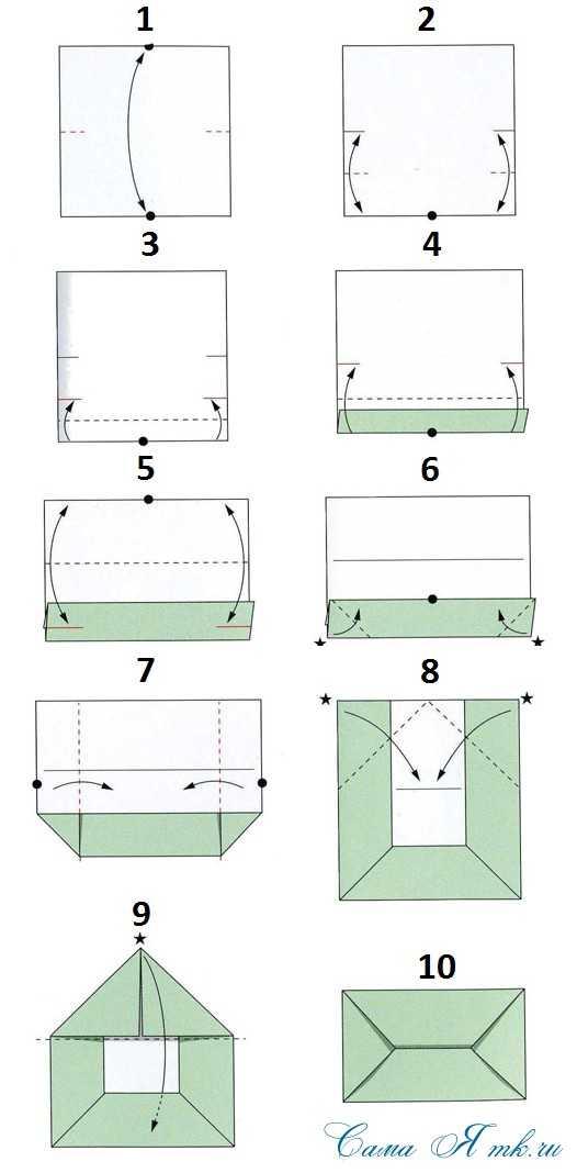Как сложить открытку из бумаги для денег