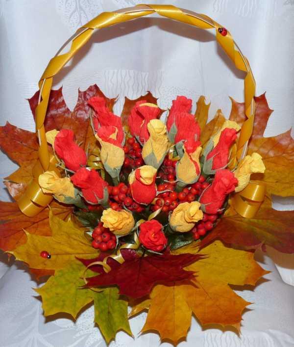 Букет осени своими руками из бумаги, букеты цветов хризантема